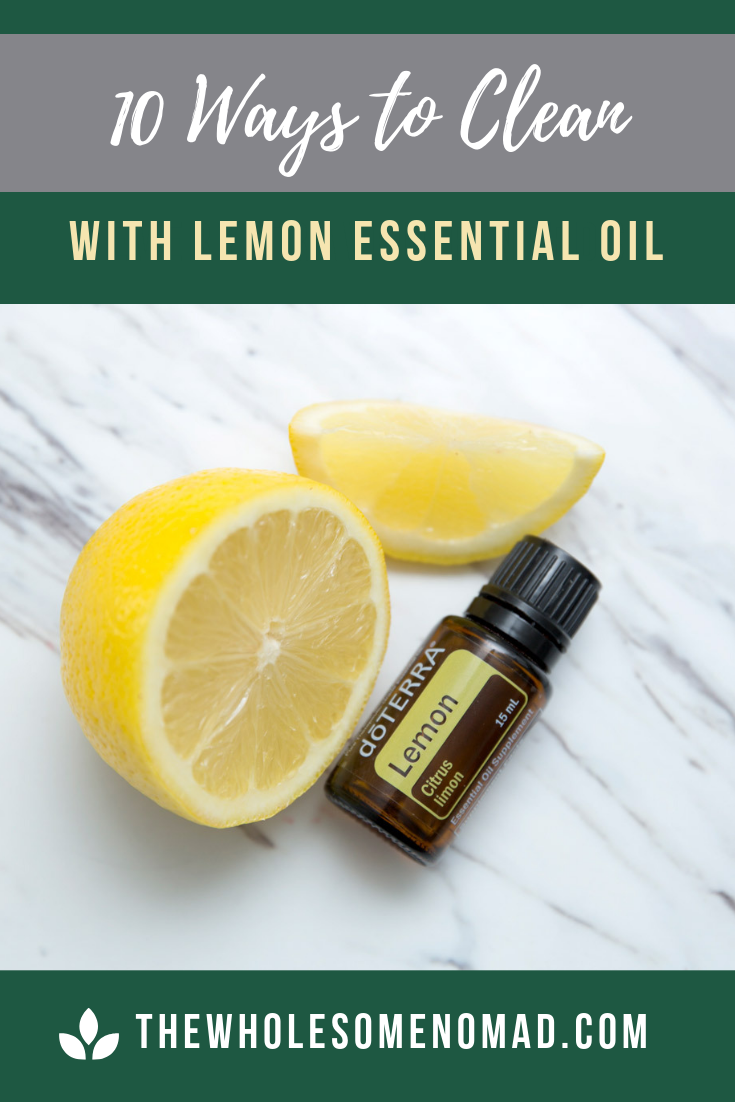 Learn 10 of the top ways to clean with your lemon essential oil.