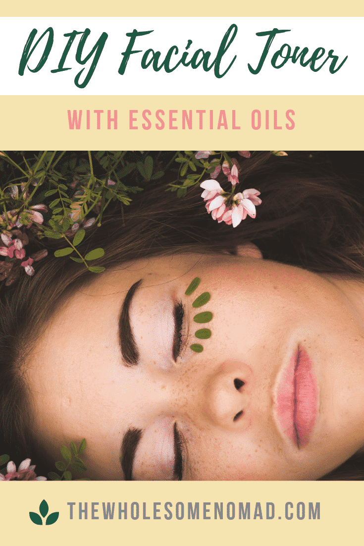 DIY non-toxic facial toner with just two ingredients and essential oils.